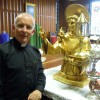 Fr Michael Byrne in the Sacristy